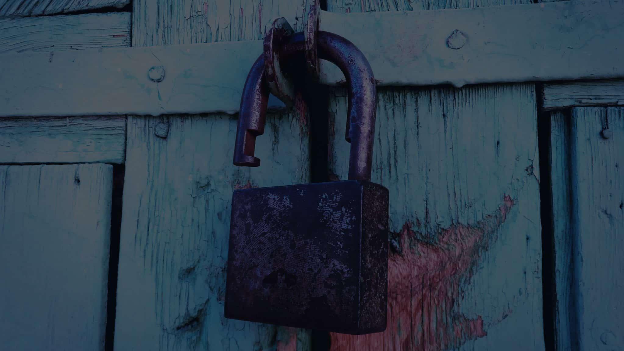 open lock, lack of security